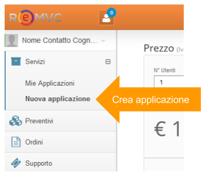 Creare nuova applicazione CRM ReMVC Express